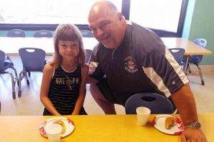 donuts with dad at daycare in Pataskala Ohio